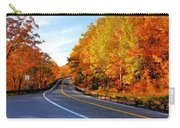 Autumn Scene With Road In Forest 2 Carry-all Pouch