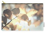 Autumn Season Leaves On A Tree In Sun Light Carry-all Pouch