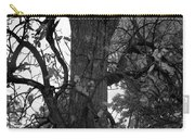 Autumn Spook In Black And White Carry-all Pouch