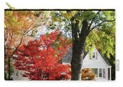 Autumn Street With Red Tree Carry-all Pouch