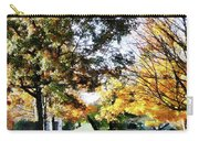 Autumn Street With Yellow House Carry-all Pouch