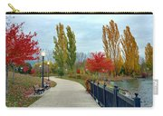 Autumn Stroll In The Park Carry-all Pouch