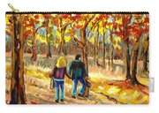 Autumn  Stroll On Mount Royal Carry-all Pouch