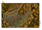 Autumn Sunrise With Spider Web Carry-all Pouch