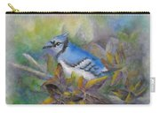 Autumn Sweet Gum With Blue Jay Carry-all Pouch