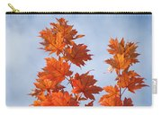 Autumn Tree Leaves Art Prints Blue Sky White Clouds Carry-all Pouch