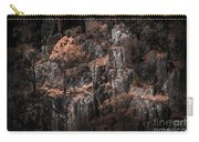 Autumn Trees Growing On Mountain Rocks Carry-all Pouch