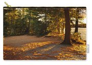 Autumn Trees Near Lake Carry-all Pouch by Elena Elisseeva