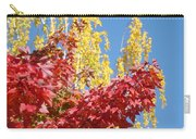 Autumn Trees Red Yellow Fall Tree Blue Sky Landsape Carry-all Pouch