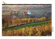 Autumn View Of Church On The Rural Hills Carry-all Pouch