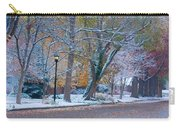 Autumn Winter Street Light Color Carry-all Pouch