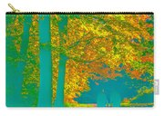 Autumn Woodland Walk Turquoise Carry-all Pouch