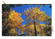 Autumn Yellow Foliage On Tall Trees Against A Blue Sky In Palermo Carry-all Pouch
