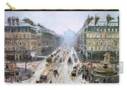 Avenue De L'opera - Effect Of Snow Carry-all Pouch by Camille Pissarro