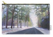 Avenue Of The Pines-winter Carry-all Pouch
