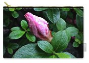 Awakening - Flower Bud In The Rain Carry-all Pouch