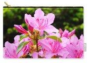 Azaleas Pink Azalea Flowers Artwork 12 Landscape Art Prints Carry-all Pouch