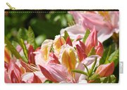 Azaleas Pink Orange Yellow Azalea Flowers 6 Summer Flowers Art Prints Baslee Troutman Carry-all Pouch