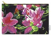 Azaleas With Dew Drop Carry-all Pouch
