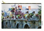 Azay-le-rideau, Loire Valley, France, Bridge With Flowers Carry-all Pouch