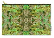 Aztec Kaleidoscope - Pattern 009 - Dark Olive Carry-all Pouch