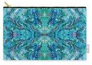 Aztec Kaleidoscope - Pattern 018 - Ocean Carry-all Pouch