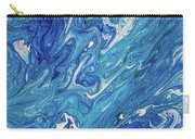 Azure Transfusions Of Ocean Waves Fragment  Carry-all Pouch