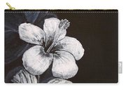 B And W Hibiscus Carry-all Pouch