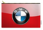 B M W Badge On Red  Carry-all Pouch