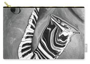 Piano Keys In A Saxophone B/w - Music In Motion Carry-all Pouch