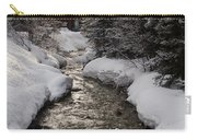Babbling Brook, Early Spring, Lake Louise, Alberta Carry-all Pouch