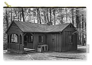 Babcock State Park Cabin - Paint Bw Carry-all Pouch