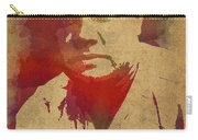 Babe Ruth Baseball Player New York Yankees Vintage Watercolor Portrait On Worn Canvas Carry-all Pouch