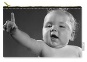 Baby Appearing To Make A Point Carry-all Pouch