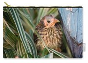 Baby Bird Hiding In Grass Carry-all Pouch
