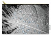 Baby Blue Dew Drops On Feather Carry-all Pouch