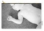 Baby Boy Black And White Carry-all Pouch