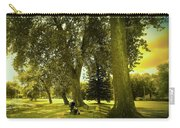 Baby Carriage In A Park Carry-all Pouch