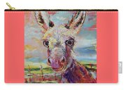 Baby Donkey Painting By Kim Guthrie Art Carry-all Pouch