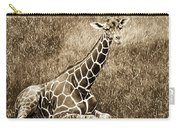 Baby Giraffe In Grasses Carry-all Pouch