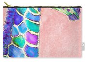 Baby Giraffe Pink And Purple Carry-all Pouch