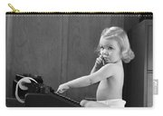 Baby Girl With Adding Machine, C.1940s Carry-all Pouch