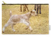 Baby Goat On The Run Carry-all Pouch