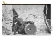 Baby Gorilla And Mom Carry-all Pouch