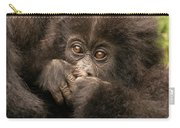 Baby Gorilla Close-up Hiding Mouth With Hands Carry-all Pouch