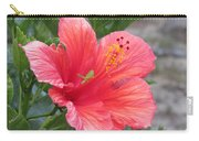 Baby Grasshopper On Hibiscus Flower Carry-all Pouch