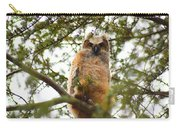 Baby Great Horned Owl Carry-all Pouch