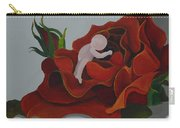 Baby In A Rose Carry-all Pouch