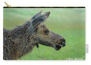 Baby Moose With Dew Carry-all Pouch