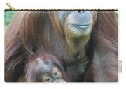 Baby Orangutan Clinging To His Mother Carry-all Pouch